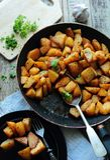 Fried potatoes Stock Photo