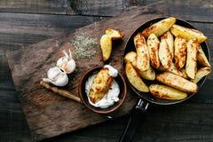 Fried potatoes Royalty Free Stock Image