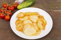 Fried potatoes Royalty Free Stock Image
