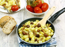 Fried potatoes with mushrooms Royalty Free Stock Photo