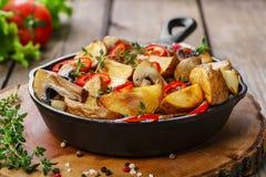 Fried potatoes Stock Image