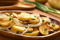 Fried Potatoes with Onion Royalty Free Stock Photos