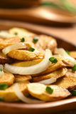 Fried Potatoes with Onion Stock Photos