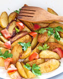 Fried potatoes Royalty Free Stock Photo