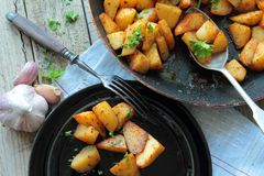 Fried potatoes Royalty Free Stock Photography