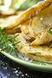 Fried Potatoes with Rosemary Stock Photography
