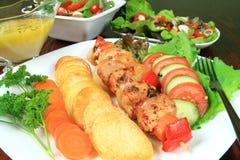 Fried potatos Stock Images
