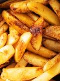 Fried potatos with sugar Stock Images