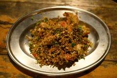 Fried Prawn avec l'ail et les piments Photos stock