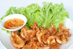 Fried prawn balls. Are Thai food Royalty Free Stock Photo