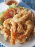 Fried prawn balls stock image