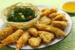 Fried prawn balls Food Stock Photos