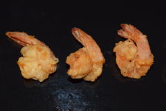Fried Prawn fait maison Images stock