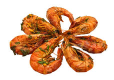 Fried prawn food Stock Photo