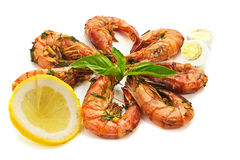 Fried prawn food Stock Photos