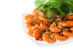 Fried prawn food Royalty Free Stock Photos