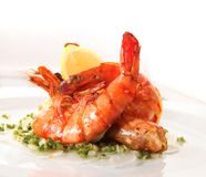 Fried prawn seafood Royalty Free Stock Photography