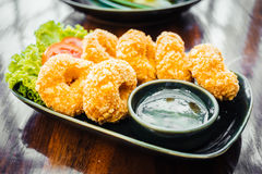Fried prawn or shrimp cake ball Stock Image