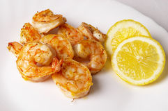 Fried prawns Stock Photography