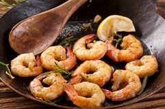 Fried prawns Stock Images