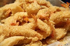 Fried Prawns or Fried Shrimp Stock Photography