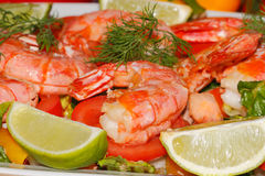Fried prawns Royalty Free Stock Photos
