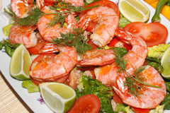Fried prawns Royalty Free Stock Images
