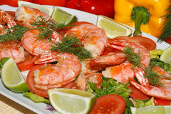Fried prawns Stock Image