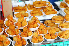 Fried prawns Stock Photos