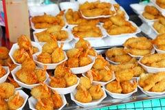 Fried prawns Stock Photos