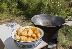 Free Fried Puffy Bread Of Kazakhstan Known As Baursak, In Kazakhstan. Royalty Free Stock Photography - 110616917
