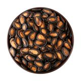 Fried pumpkin seed in the bowl Royalty Free Stock Photos