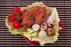 Fried quail Royalty Free Stock Images
