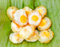 Fried quail egg Royalty Free Stock Photography