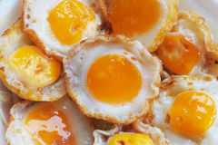Fried quail egg Stock Photo