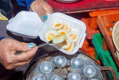 Fried quail egg Royalty Free Stock Photo