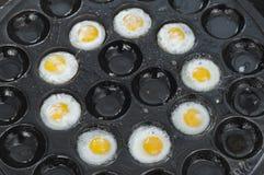 Fried quail eggs. Royalty Free Stock Photo
