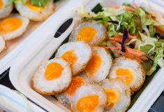 Fried Quail's egg , Thai style Stock Photography