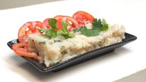 Fried Radish-Kuchen in der chinesischen Sprache ist Chai-Schleppseil, das mit toma kway ist stockbild