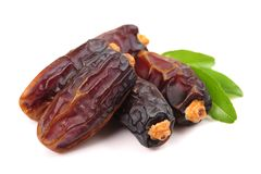 Fried red dates. Isolated on white background Stock Images