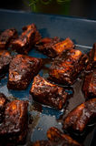 Fried ribs with honey Royalty Free Stock Images