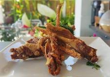Fried ribs Stock Photos