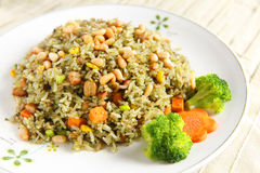 Fried rice. On the dish Royalty Free Stock Images