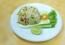 Fried Rice. With crab at restaurant, Nakhon Si Thammarat Province, Thailand Royalty Free Stock Photos