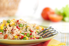 Fried rice. With vegetables, chinese cuisine Royalty Free Stock Image