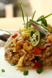 Fried rice. A close up of fried rice stock photo