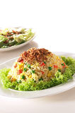 Fried rice. A plate of oriental fried rice Stock Photo
