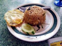 Asian Food - Fried Rice (Nasi Goreng Kampung). Asian food - Fried rice with fried egg (Nasi goreng kampung Stock Images