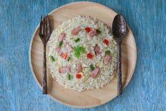 Fried Rice avec le lard photographie stock libre de droits
