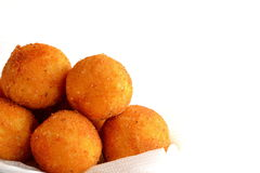 Fried rice balls arancini isolated on white background. Italian dish Royalty Free Stock Image